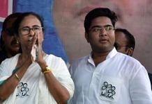 File image of Trinamool MP Abhishek Banerjee (right) and his aunt, CM Mamata Banerjee in West Bengal | Photo: ANI