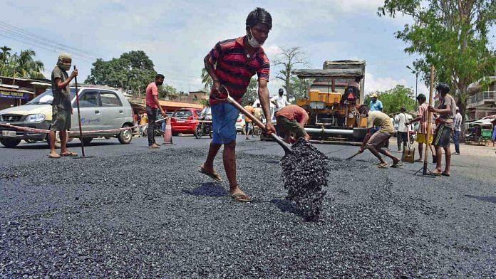 Road construction in Assam | Representational photo: ANI