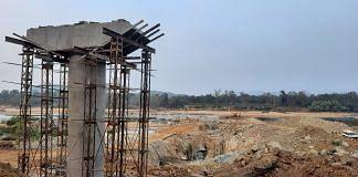An under-construction bridge on the Indravati river that will connect Abujhmad | Ashutosh Bharadwaj