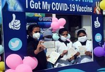 Frontline workers click selfies after getting the Covid-19 vaccine, in Prayagraj on 4 February | Representational image | ANI