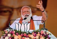 PM Narendra Modi addresses a public meeting ahead of the assembly election in Puducherry, 25 February 2021 | R Senthil Kumar | PTI