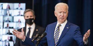 US President Joe Biden speaks at the State Department in Washington, D.C., U.S., on 4 February, 2021.  Photographer: Jim Lo Scalzo   EPA/Bloomberg