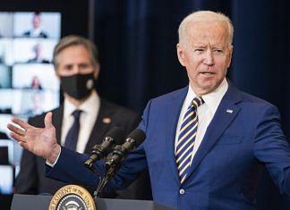 US President Joe Biden speaks at the State Department in Washington, D.C., U.S., on 4 February, 2021.| Photographer: Jim Lo Scalzo | EPA/Bloomberg