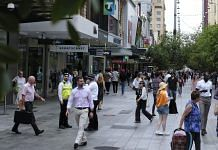 Shoppers and pedestrians walk through Rundle Mall in Adelaide, Australia, 11 February, 2021 | Photographer: James Bugg | Bloomberg