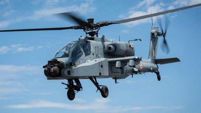 An Apache helicopter in action | Source: Boeing India