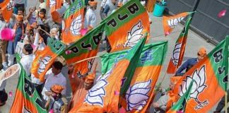 BJP workers with party flags at a rally (representational image)   PTI file