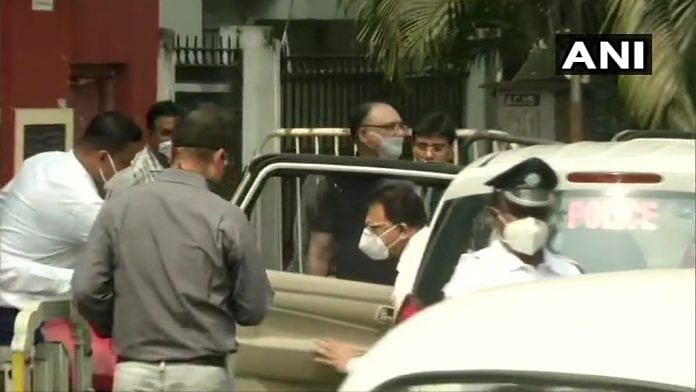 CBI team arrives at the residence of TMC leader Abhishek Banerjee in Kolkata | Twitter/ANI