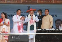 Home Minister Amit Shah at a public rally in Borduwa, Assam   Twitter