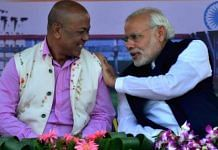 File image of Bodoland People's Front chief Hagrama Mohilary with PM Narendra Modi | Twitter | @Hagramaonline