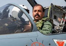 IAF chief Air Chief Marshal R.K.S Bhadauria on a Mirage 2000 aircraft | Source: IAF