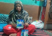 Kismatun, 61, with photos of Faizan at the family's home in Delhi | Bismee Taskin | ThePrint