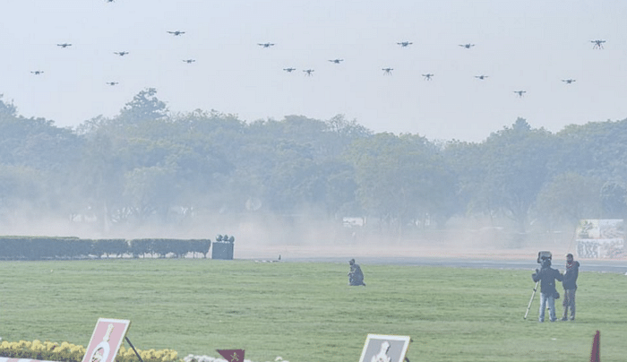 Indian Army demonstrated a 75 drone heterogenous swarm on Army Day 2021 in New Delhi | sameerjoshi73.medium.com