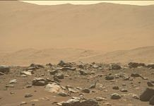 Surface of Mars captured by the Perseverance rover | Credits: NASA/JPL-Caltech/AS
