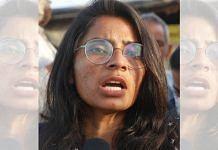 Labour rights activist Nodeep Kaur in New Delhi on 27 February 2021 | Manisha Mondal | ThePrint