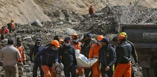 Rescue forces recovered seven bodies Sunday at the Rishi Ganga hydel project site near Raini village