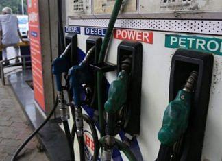 File photo of a fuel pump in New Delhi   Manisha Mondal   ThePrint