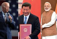 (L-R) Joe Biden, Xi Jinping, and Narendra Modi | ThePrint