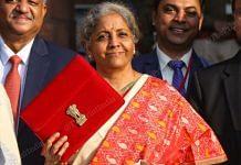 Finance Minister Nirmala Sitharaman ahead of presenting the Budget Monday | Suraj Singh Bisht/ThePrint