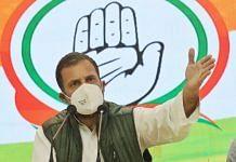 Congress leader Rahul Gandhi at the press conference Wednesday | Manisha Mondal/ThePrint