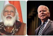 PM Narendra Modi (L) and US President Joe Biden (R)