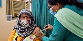 File photo | A medic administers the first dose of Covaxin to a frontline worker, in New Delhi | PTI