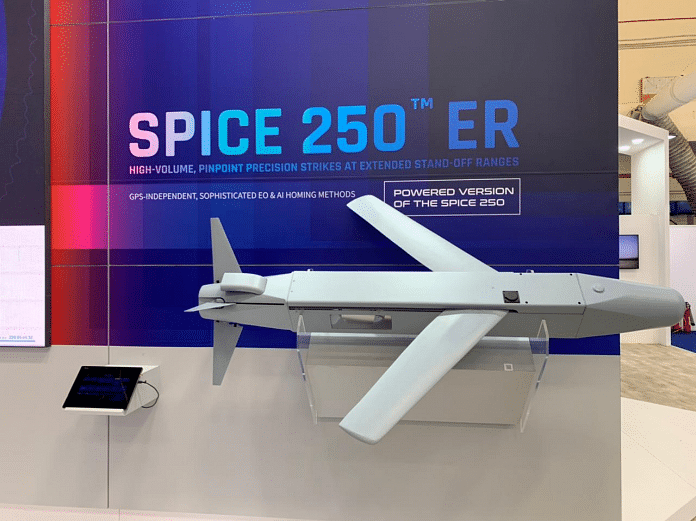 The Rafael Advanced Defense Systems unveiled SPICE 250 ER at the Aero India 2021 in Bengaluru