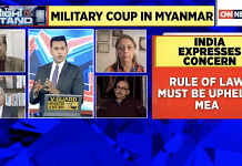 Screengrab of CNN anchor Anand Narasimhan discussing the military coup in Myanmar.