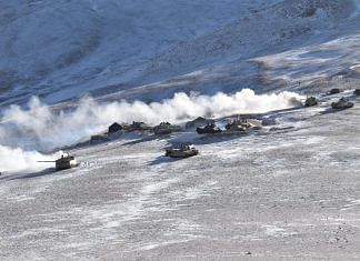 Army tanks seen in eastern Ladakh, on 10 February 2021 | Photo: Indian Army