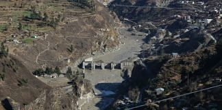 A view of the decimated hydropower plant near Raini village in Uttarakhand's Chamoli district.   Photo: Suraj Singh Bisht/ThePrint