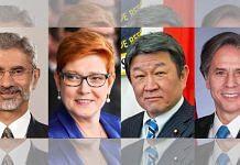 L to R: External Affairs Minister S. Jaishankar; Australia's Minister for Foreign Affairs Marise Payne; Japan's Minister of Foreign Affairs Motegi Toshimitsu; US Secretary of State Antony Blinken | Photo: Twitter