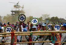 Women supporting the Trinamool Congress at Chief Minister Mamata Banerjee's election rally in Bankura, West Bengal   Representational image: PTI