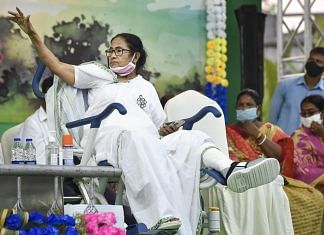 West Bengal Chief Minister Mamata Banerjee during election campaign in Nandigram on 28 March 2021. PTI | Ashok Bhaumik