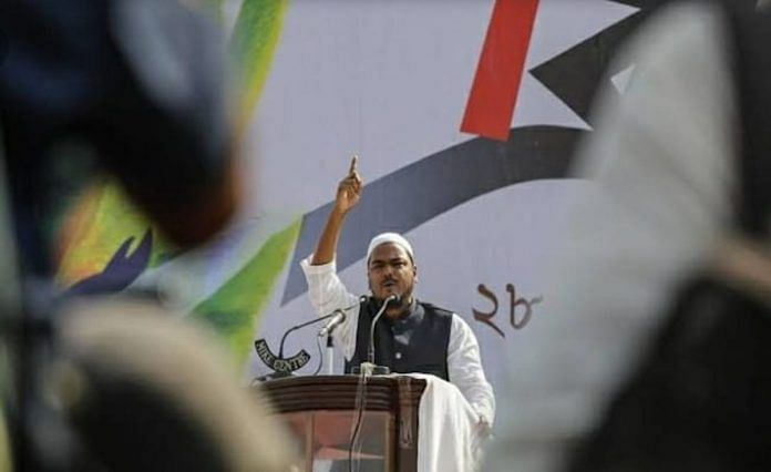 File photo of Abbas Siddiqui at a rally | Photo: Indian Secular Front/Facebook