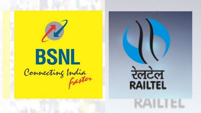 BSNL and RailTel are Central Public Sector Undertakings | Images from Twitter | ThePrint
