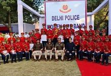 Jenjum Gadi along with Delhi Police's first all-women band | Facebook