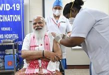 PM Modi registers first dose of Covid vaccine at AIIMS, New Delhi on 1 March 2021 | Twitter