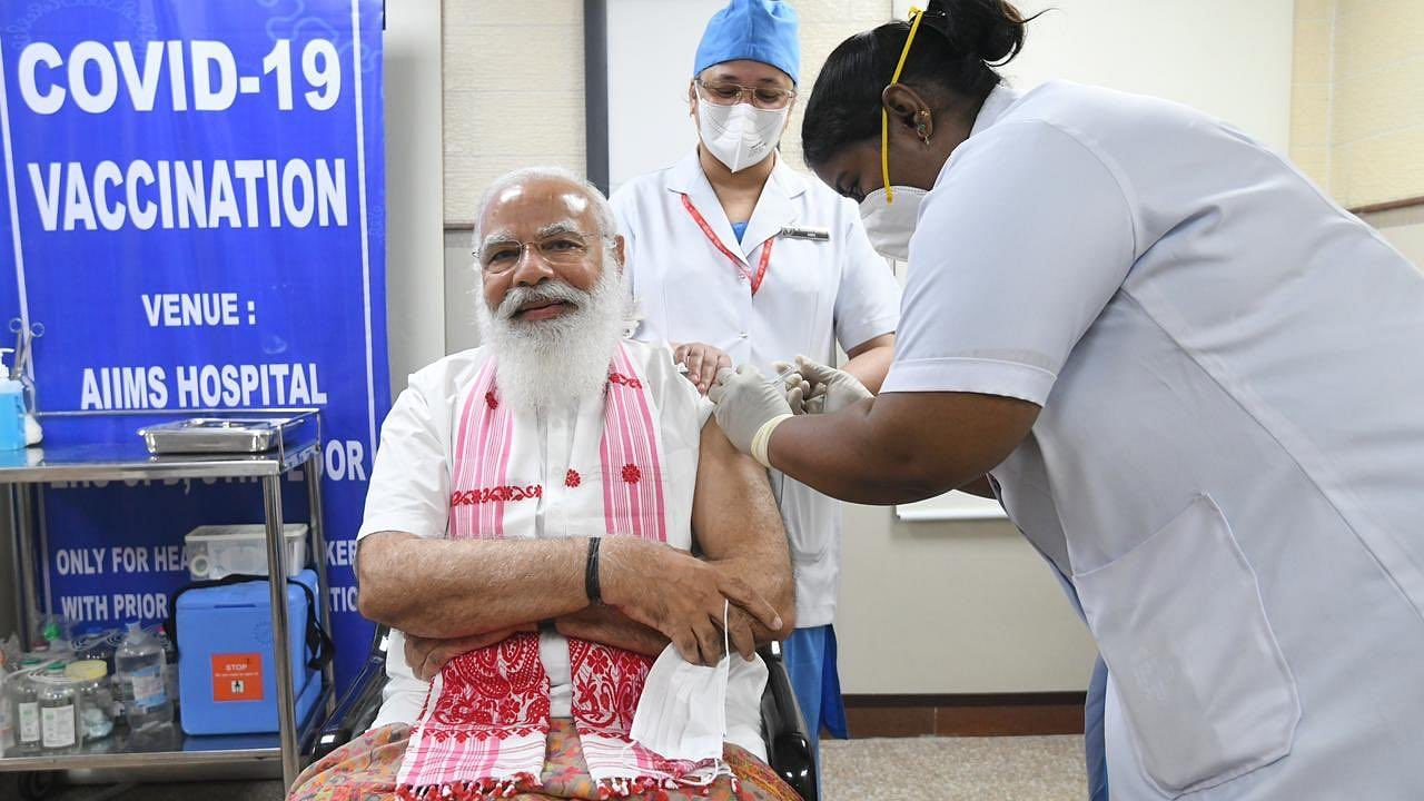 PM Modi takes first dose of Covid vaccine at AIIMS