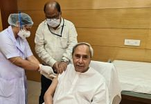 Odisha Chief Minister Naveen Patnaik takes his first dose of Covid vaccine on 1 March, 2021 | Twitter/ANI