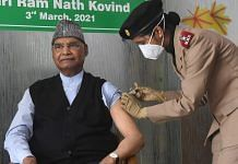 President Ram Nath Kovind getting the first dose of COVID-19 vaccine at the Army R&R Hospital, Delhi on 3 March, 2021 | Twitter