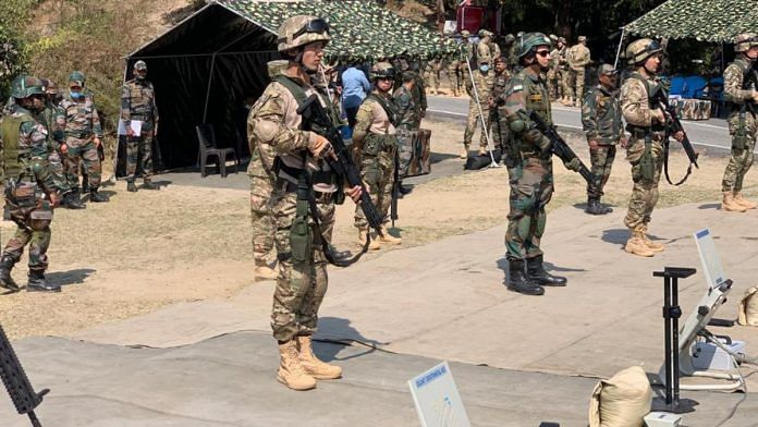 Indian and Uzbek soldiers during the joint Army exercise, Dustlik-II, at the Foreign Training Node in Chaubatia near Ranikhet in Uttarakhand   Photo by special arrangement
