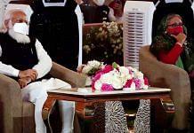 Prime Minister Narendra Modi and Bangladesh Prime Minister Sheikh Hasina attend the inaugural programme of Bangabandhu-Bapu Museum at Bangabandhu International Conference Center in Dhaka on 26 March 2021 | ANI