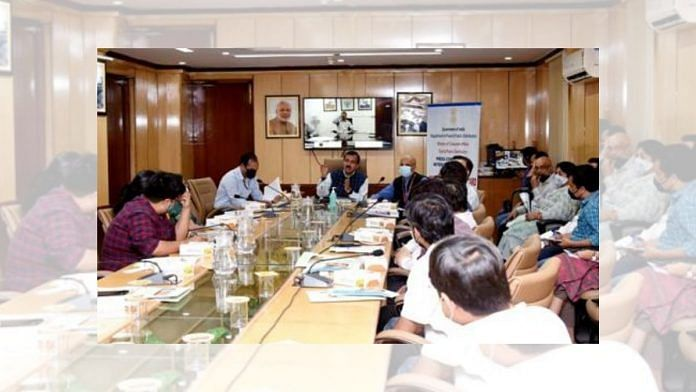 Secretary, Department of Food and Public Distribution, holds a press briefing on One Nation One Ration Card on 12 March 2021 in New Delhi | PIB | Twitter