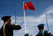 Members of PLA during a flag-raising ceremony | Representational image | Photo: Eduardo Leal | Bloomberg