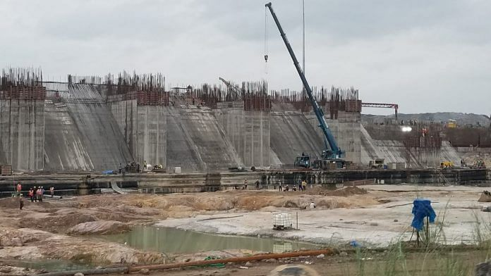 File image (2018) from the site of the Polavaram Project | Twitter | @nitin_gadkari