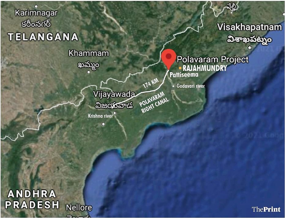 The Polavaram project is envisaged to bring the Godavari water to the Krishna river.