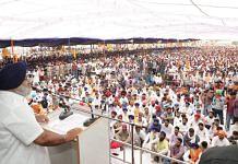SAD chief Sukhbir Singh Badal addresses a rally Monday   Twitter   @officeofssbadal
