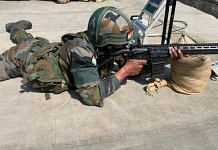 An Indian Army soldier with the Sig 716 rifle | Photo: Snehesh Alex Philip | ThePrint