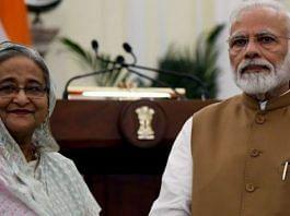 A file photo of Prime Minister Narendra Modi and his Bangladesh counterpart Sheikh Hasina | Photo: ANI