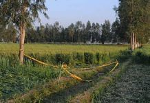 The site at Aligarh's Kiwlas village where the 16-year-old's body was found Sunday | Suraj Singh Bisht | ThePrint