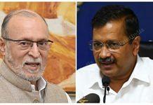 Delhi LG Anil Baijal (left) and Chief Minister Arvind Kejriwal | Wikimedia commons/ThePrint